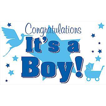 5ft x 3ft Flag - It's a Boy