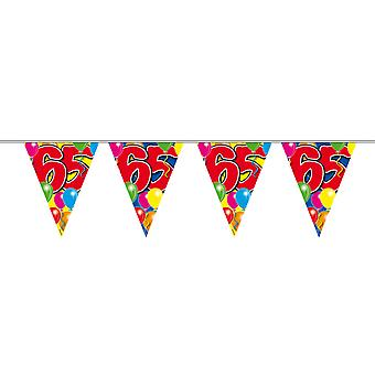 Pennant chain 10 m number 65 years birthday decoration party Garland