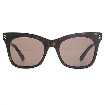 Stella McCartney Essentials Peaked Cateye Sunglasses In Havana