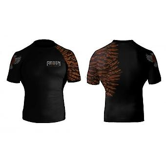 Raven Fightwear Aerial Assault Rash Guard - Short Sleeve - Brown