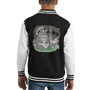 Forest Friends My Neighbor Totoro Kid's Varsity Jacket