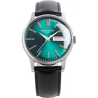 Simon Carter Viridian Watch - Blue/Green/Silver