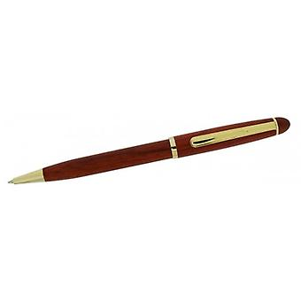 Gift Time Products Slim Ballpoint Pen - Dark Brown/Gold