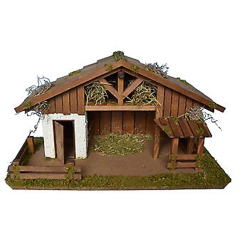 Crib Nativity scene wood Nativity stable SIMSON hand work for characters up to 12 cm
