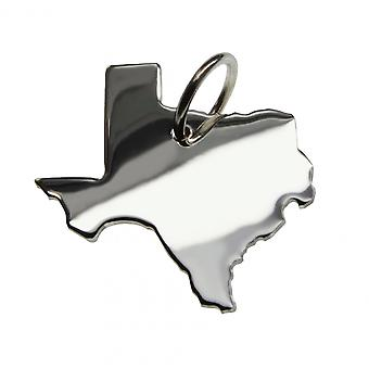 Pendant necklace solid 925 Silver TEXAS map