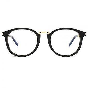 Saint Laurent SL 130 Combi Glasses In Black Gold