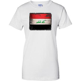 Irak Grunge Grunge Effekt Flag - Damen-T-Shirt
