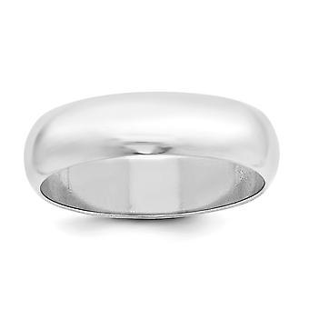 Argento sterlina solido lucidato metà rotondo 6mm incisione semicircolare fedina - formato dell'anello: 4 a 13,5