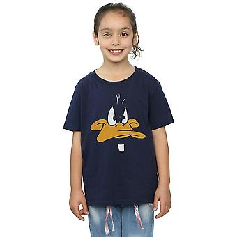 Looney Tunes Girls Daffy Duck Big Face T-Shirt