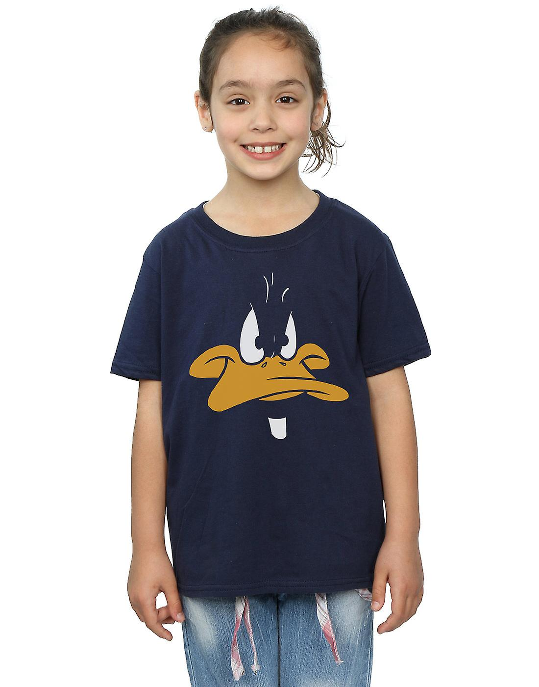 Looney Tunes piger Daffy Duck stor ansigt T-Shirt