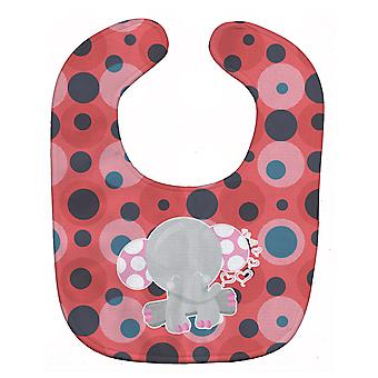 Carolines Treasures  BB6951BIB Elephant Lots of Polkadots Baby Bib