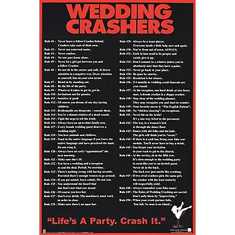 Wedding Crashers 50 Rules Poster Poster Print