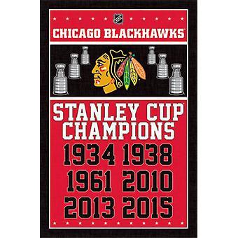 Чикаго - чемпионов 2015 Плакат Плакат Печать