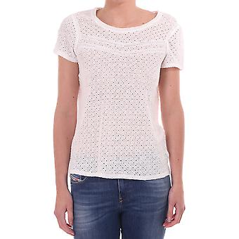 Maison Scotch Linen Ss Top With Embroidery Detail