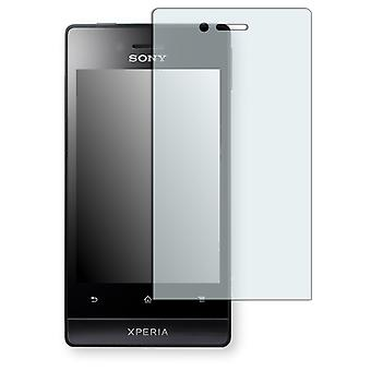 Sony Xperia Miro display protector - Golebo crystal clear protection film
