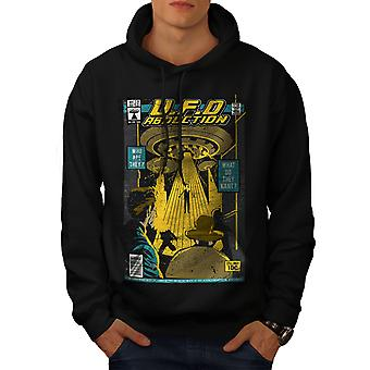 Flying Object Magazine Men BlackHoodie | Wellcoda