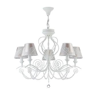 Maytoni Lighting Lucy Elegant Collection Chandelier, White Glossy