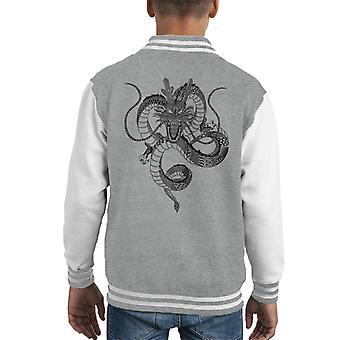 Aztec Dragon Shenron Dragon Ball Z Kid's Varsity Jacket