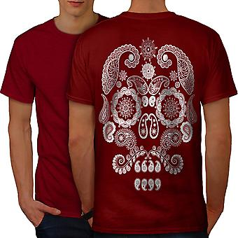 Face Of The Skull Men RedT-shirt Back | Wellcoda