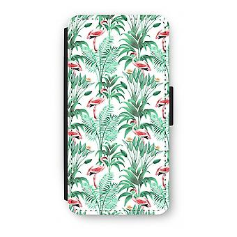 Samsung Galaxy S8 Plus Flip Case - Flamingo leaves
