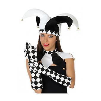 Gloves  White black gloves harlequin