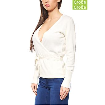B.C.. best connections wrap sweater plus size White