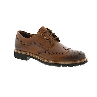 Clarks Batcombe Wing - Dark Tan Leather (Brown) Mens Shoes