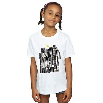 Disney Girls The Incredibles Skyline T-Shirt