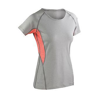 Spiro Ladies Fitness Tech Panel Marl T Shirt