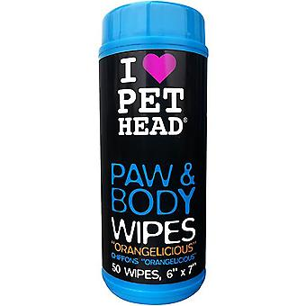 Pet Head Dog Paw & Body Wipes