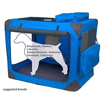 VALENTINA VALENTTI XXL PET FALTUNG CANVAS CARRIER TRANSPORT WEICHE KISTE XXL BLAU