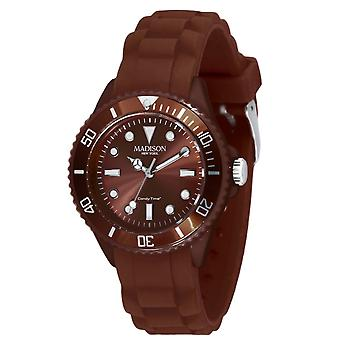 Candy time by Madison N.Y.. watch mini L4167-19-1 Brown