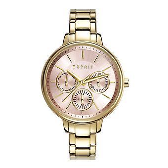 ESPRIT dameshorloge armband horloge Melanie roestvrij staal goud ES108152002