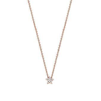 ESPRIT women's chain necklace silver Rosé cubic zirconia Petite ESNL92979C420