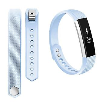 For Fitbit Alta HR plastic / silicone bracelet for women / size S light blue watch