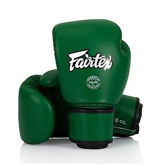 Fairtex Leather Boxing Gloves - Forest Green