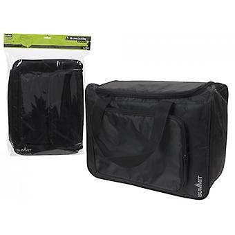 Summit 26L Coolbag with Front Cooler Section Black