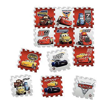 Tatamiz Disney biler sæt 12 skum puslespil måtten (TTMZ211)