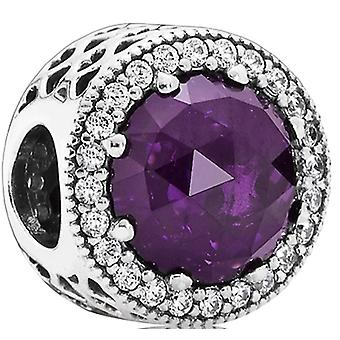 PANDORA Hearts radiante fascino - Royal-Purple Crystal & chiaro CZ - 791725NRP