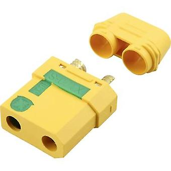 Battery receptacle XT90-S Gold-plated, Lightning protection 1 pc(s)