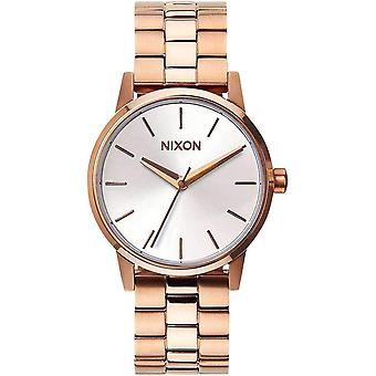 Nixon The Small Kensington Watch - Rose Gold/White