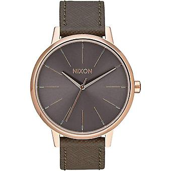 Nixon The Kensington Leather Watch - Rose Gold/Taupe