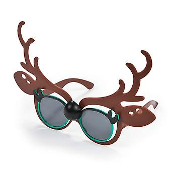 SALE -  12 Pairs Funky Reindeer Novelty Glasses for Christmas