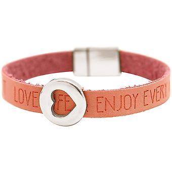 Gemshine - Damen - Armband - Herz - Liebe - WISHES - Rosa - Pink - Magnetverschluss