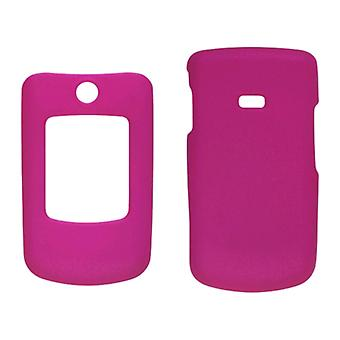 Two piece Soft Touch Snap-On Case for Samsung Contour SCH-R250 - Hot Pink