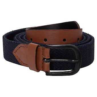 Unisex Canvas Elasticated Belt With Adjustable Buckle | Enzo Designer Menswear