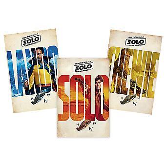 Solo: A Star Wars Story Poster-Set 3-teilig Gesamtgröße Set: 91,5 cm hoch x 183 cm breit