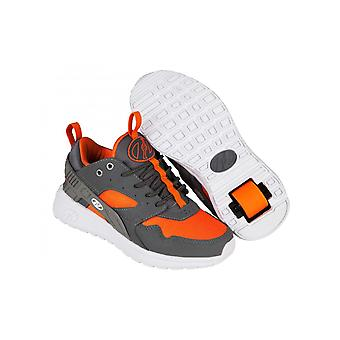 Heelys Dark Grey-Grey-Orange Force Kids One Wheel Shoe
