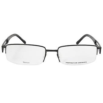 Porsche Design P8703 A Rectangular | Matte Black| Eyeglass Frames