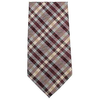 Knightsbridge Neckwear Tartan Woven Tie - Green/Yellow/Brown